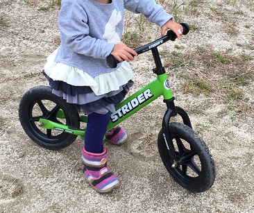 三歳で自転車に乗れる為にやった事